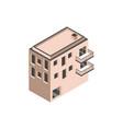 building real estate urban balconies isometric vector image vector image