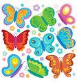 butterfly theme collection 1 vector image vector image