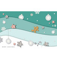 christmas and happy new year winter background vector image vector image