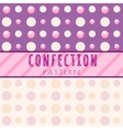 Circles pattern candies on a pink background vector image vector image