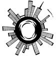 City Black outline sketch vector image vector image