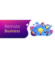 cloud collaboration header banner vector image vector image
