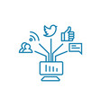 communication in social networks linear icon vector image vector image