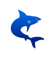 creative marine deep sea shark silhouette symbol vector image