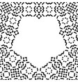 creative pattern with black and white ornament vector image vector image