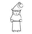 elf girl icon vector image vector image