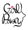 english expression for girl power vector image vector image