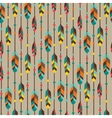 Ethnic seamless pattern in native style with vector image vector image