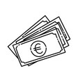 euro icon doodle hand drawn or outline icon style vector image vector image