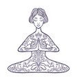 girl in a yoga pose meditation vector image vector image