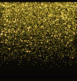 gold glitter confetti falling golden star vector image vector image