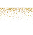 gold stars falling gold foil confetti abstract vector image vector image