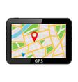 gps navigation system device vector image