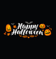halloween banner greeting card pumpkin holiday vector image vector image