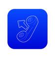 handset icon blue vector image vector image
