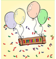 Happy Birthday drawing vector image vector image