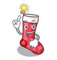 have an idea cute christmas socks isolated on vector image