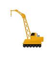hydraulic crawler crane cargo transportation vector image vector image