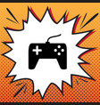 joystick simple sign comics style icon on vector image