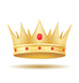 king royal golden crown vector image