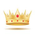 king royal golden crown vector image