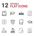 knowledge icons vector image vector image