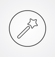 magic wand outline symbol dark on white background vector image