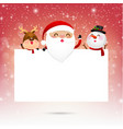 Merry christmas santa claus cartoon and blank vector image vector image