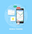 mobile online trading vector image vector image