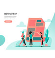 newsletter concept modern flat design concept of vector image vector image
