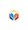 open book education icon logo vector image vector image
