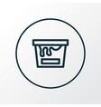 painting bucket icon line symbol premium quality vector image
