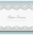 Paper lace frame vector image vector image