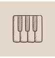 Piano keys sketch icon vector image vector image