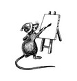 rat with long tail as new year symbol wearing vector image vector image