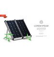 realistic renewable energy template vector image