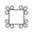 rope decor square vector image vector image