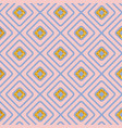 seamless geometric diamond pattern on pink vector image