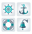 seaside icons set vector image vector image