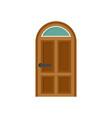 security door icon flat style vector image