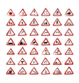 Set of 42 traffic signs sketch for your design vector image