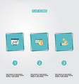 set of accounting icons flat style symbols with vector image vector image