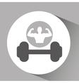 silhouette man bodybuilder dummbell vector image vector image