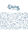 sketched dairy products vector image vector image