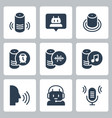 smart speaker and virtual assistant related icon vector image