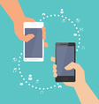 Smartphone with Multimedia Sharing vector image vector image