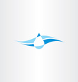 spring fresh mineral water icon logo vector image