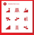stair icons vector image vector image