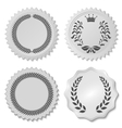 stickers set with laurel wreaths vector image vector image