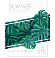 summer party music poster template vector image vector image